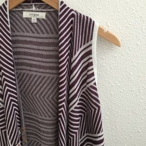 Umgee Sweaters - Umgee Aztec Print Cardigan Vest Purple Size S/M